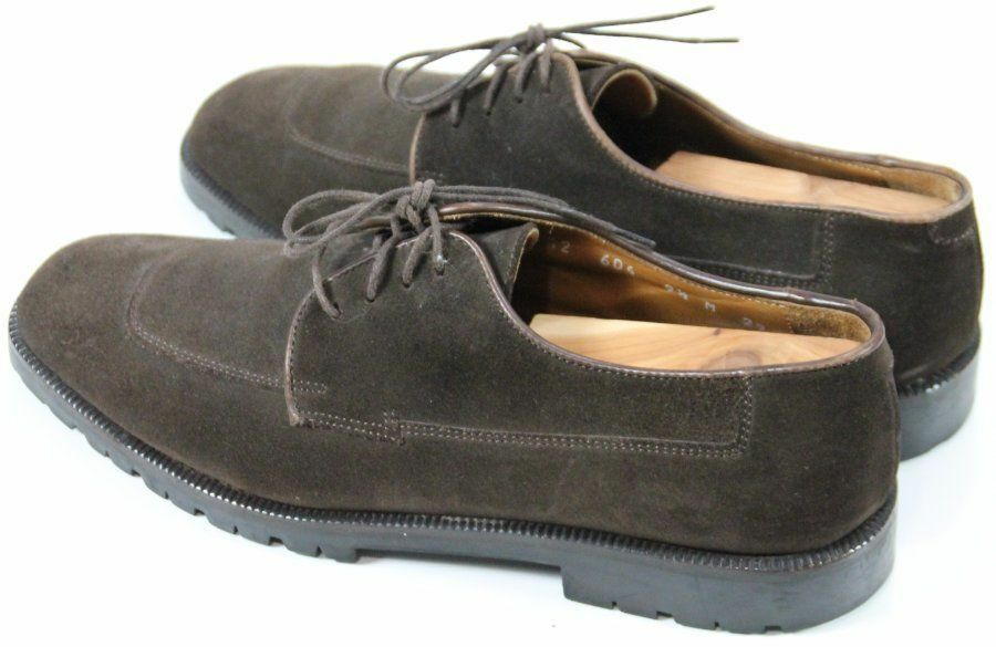 Cole Haan Men's  140 Oxfords Suede Leather Made In  Size 9.5 Brown