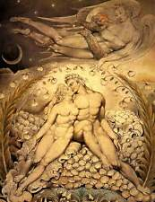 William Blake SATANA GUARDA IL Caresses di Adam & Eve 7x5 pollici repro art print