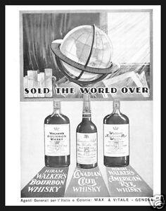 PUBBLICITA-039-1934-HIRAM-WALKER-039-S-WHISKY-BOURBON-CANADIAN-CLUB-AMERICAN-RYE-BAR