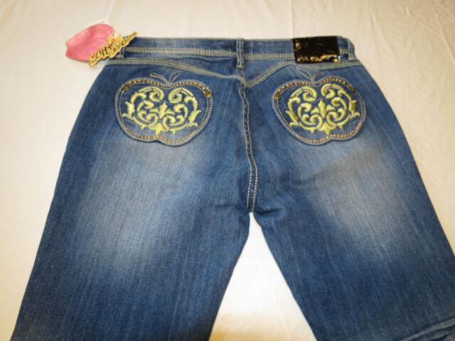 44eba7af9f6ca Apple Bottom Jeans Fresh Picked Dailey Womens juniors Denim 9 10 blue NWT