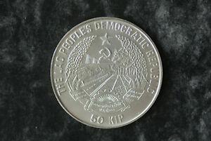 50-KIP-Laos-1991-Fussball-Silber-Muenzkapsel