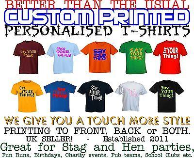 Ladies t shirt Printing Custom Text Personalised Image Printed T-Shirts Hen Fun
