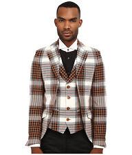 *NEW* Vivienne Westwood Men's Tartan Plaid Waistcoat Jacket **RETAIL$2,495**eu52