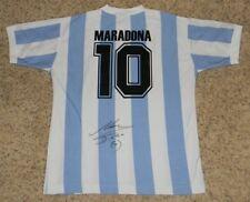 DIEGO MARADONA AUTOGRAPHED SIGNED ARGENTINA #10 SOCCER JERSEY SHIRT JSA LOA