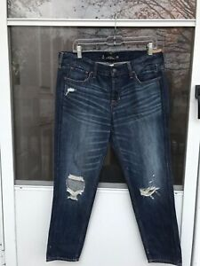e1abac75c6 Image is loading hollister-vintage-BOYFRIEND-JEANS-100-COTTON-BUTTON-FLY-