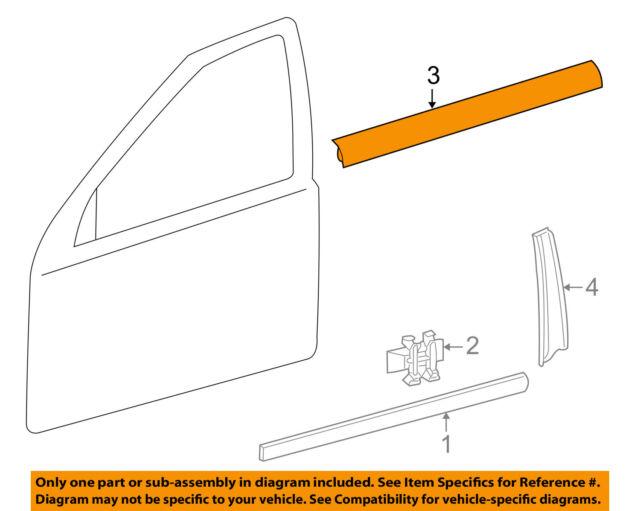 door-window sweep belt molding felt weatherstrip right 2036903280