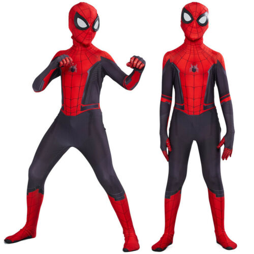 Spider Man Far From Home Peter Parker Spiderman Cosplay Costume for Men /& Kids