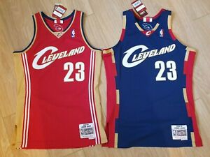 buy online a2bdf c228a Details about 2 LEBRON JAMES NEW AUTHENTIC HARDWOOD CLASSICS JERSEY  CLEVELAND CAVALIERS NBA
