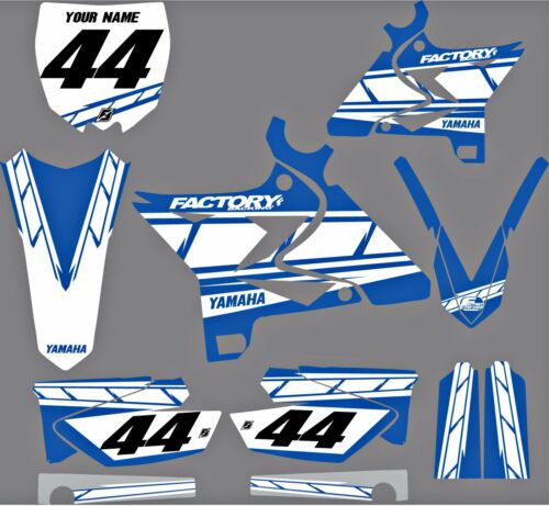 Factory Backing Yamaha UFO MX  Restyle Graphics kit YZ125-250 02-13 ALL BLUE