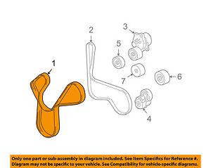 Chevrolet GM OEM 14-15 Corvette-Serpentine Drive Fan Belt 12651112