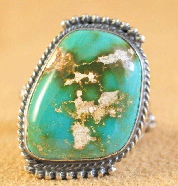 Sterling Silver Royston Turquoise Handmade Navajo Ring Signed By Kelly Morgan