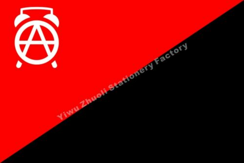 Syrian Rojava Anarchists Flag 3X2FT 5X3FT 6X4FT 8X5FT 10X6FT 100D Polyester