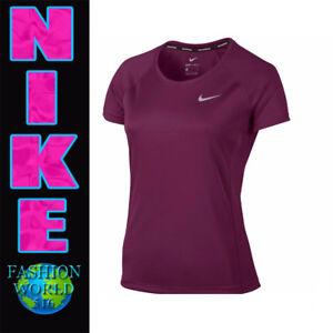 675310e6 Nike Women's Size Large Dri-Fit Miler Crew Running Top Burgundy ...