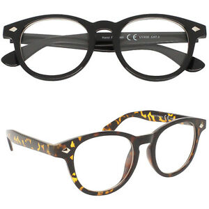 a8f141ab20 Black Tortoise VTG Frame Men s Ladies Clear Lens Glasses 50 s Johnny ...