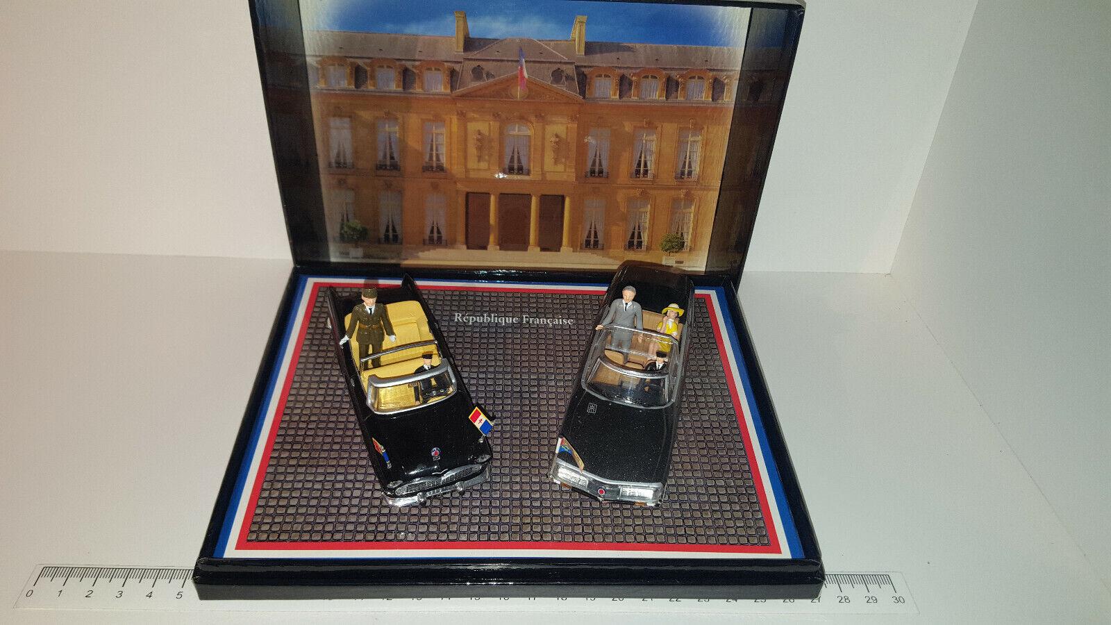 (Lot 239 1 ) Norev 1 43 Scale PC01 - RF Presidential Cars - Simca Citroen