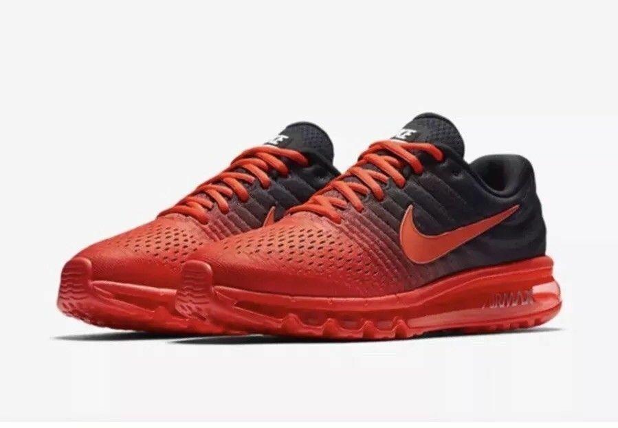 Nike Air Max 2017 Bright Crimson Total Crimson Black 849559-600 MENS SIZE 11.5