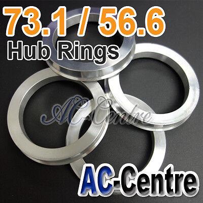 58.1-57.1 Alloy Wheel ALUMINIUM Spigot Rings for Audi A6 1994-2011