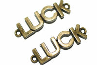 5pc Luck Bracelet Connector Charms 1-3 Day Shipping