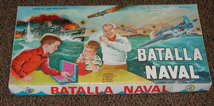 RARE VINTAGE BAsize NAVAL SPANISH BATTLESHIP GAME COMPLETE