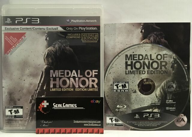 ☆ Medal of Honor ☆ Limited Edition ☆ (Sony PlayStation 3, Ps3 2010) Complete Cib
