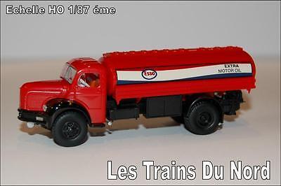 Camion Berliet type GLR8 citerne ESSO éch HO 1/87 éme BREKINA SAI 2618