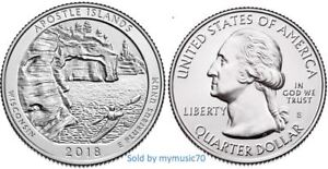 Details about 2018 S Apostle Islands National Lakeshore Park Quarter (WI)  **ON HAND**