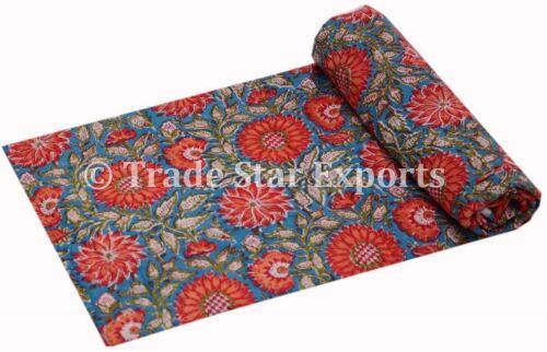 Indian Hand Block Print Dress Making Fabric  Sanganeri Cotton Fabric By The Yard