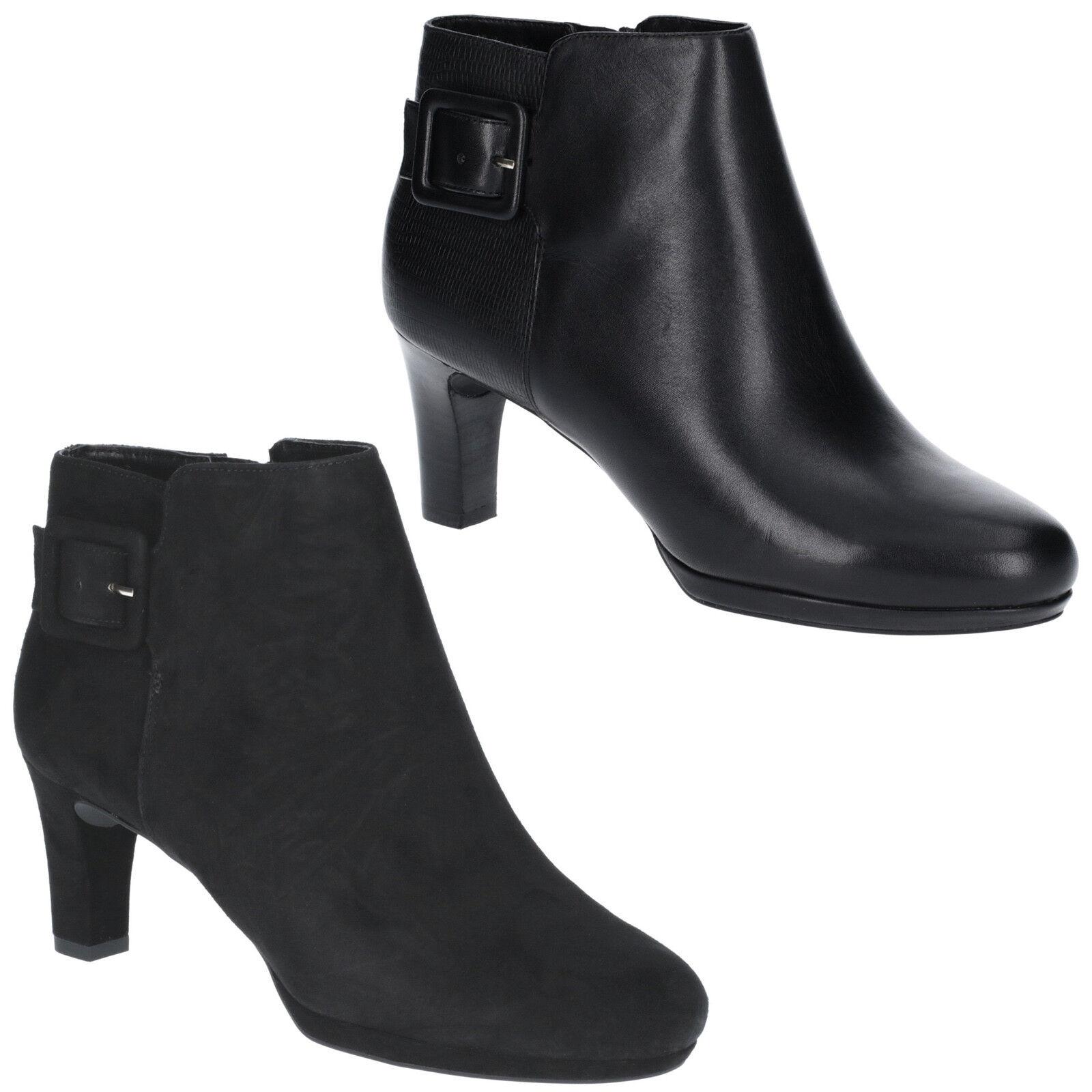 Rockport botas de movimiento total total total Leah para Mujer cortas al tobillo Plataforma Tacones Zapatos De Las Señoras  orden en línea