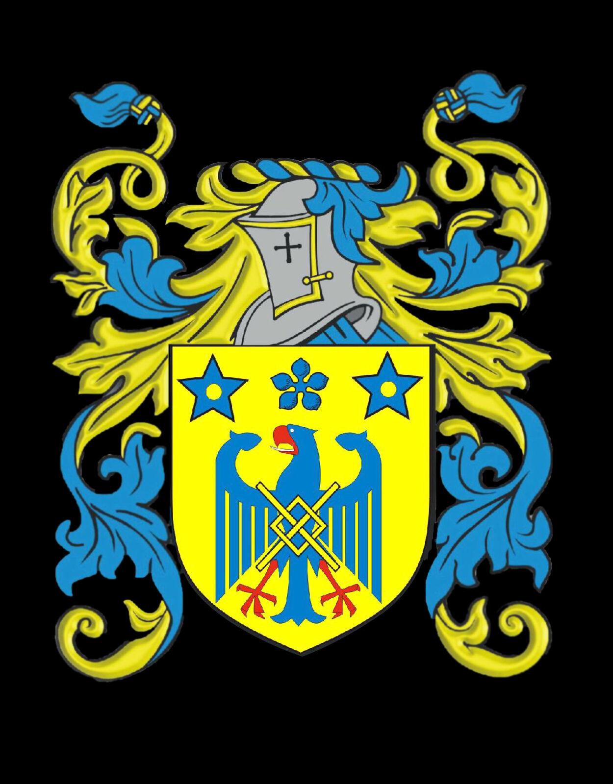 Arderne Irlanda Famiglia Stemma Cognome Stemma oro Gemelli Gemelli Gemelli Inciso Scatola e1f849