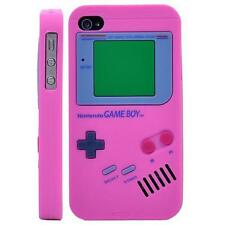 Nintendo Gameboy Soft Silicone Case Cover For iPhone 4 4S - Hot Pink