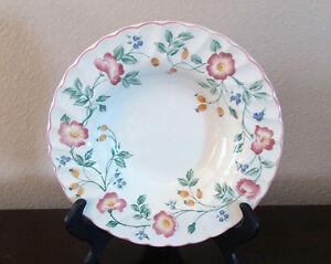 Image is loading Churchill-Fine-English-Tableware-Briar-Rose-Rim-Soup- & Churchill Fine English Tableware Briar Rose Rim Soup Bowls x1 Pink ...
