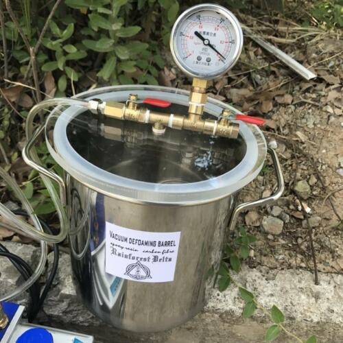1.6 Gallon Vacuum Chamber Kit with 3 CFM 1 Stage Vacuum Pump Air HVAC US Plug