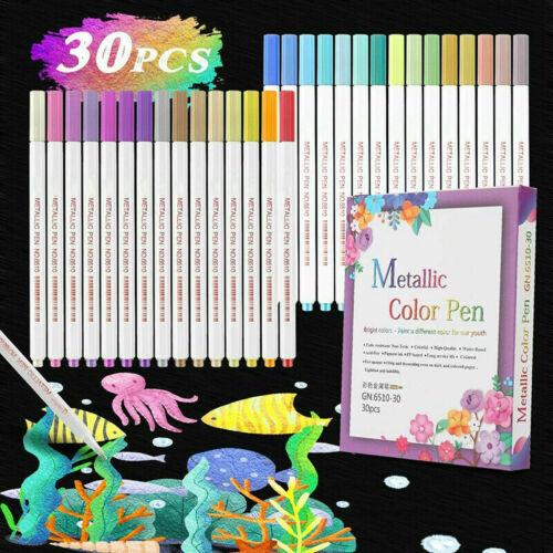 30 Farben Wasserfeste Stifte Marker Set Acrylstifte Marker Stifte
