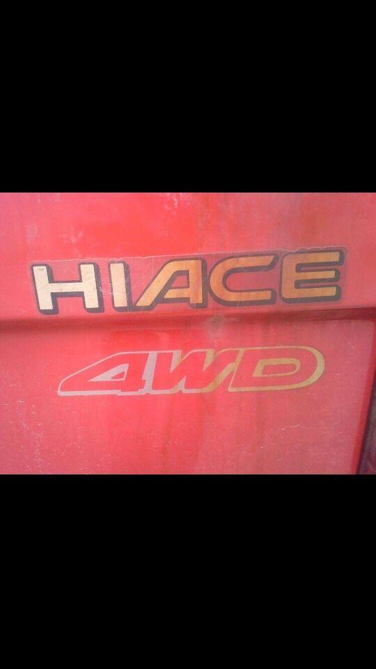 Toyota, HiAce, 2,4 D 4x4 Kassevogn