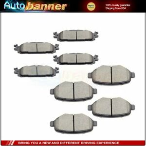 Fits-Ford-Explore-Flex-Taurus-Lincoln-MKS-MKT-Front-And-Rear-Ceramic-Brake-Pads