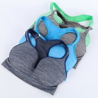 Women Fitness Push Up Stretch Bra Racerback Padded Tank Tops Wireless Sports Bra
