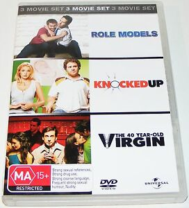 ROLE-MODELS-KNOCKED-UP-THE-40-YEAR-OLD-VIRGIN-Dvd-3-Disc-Set