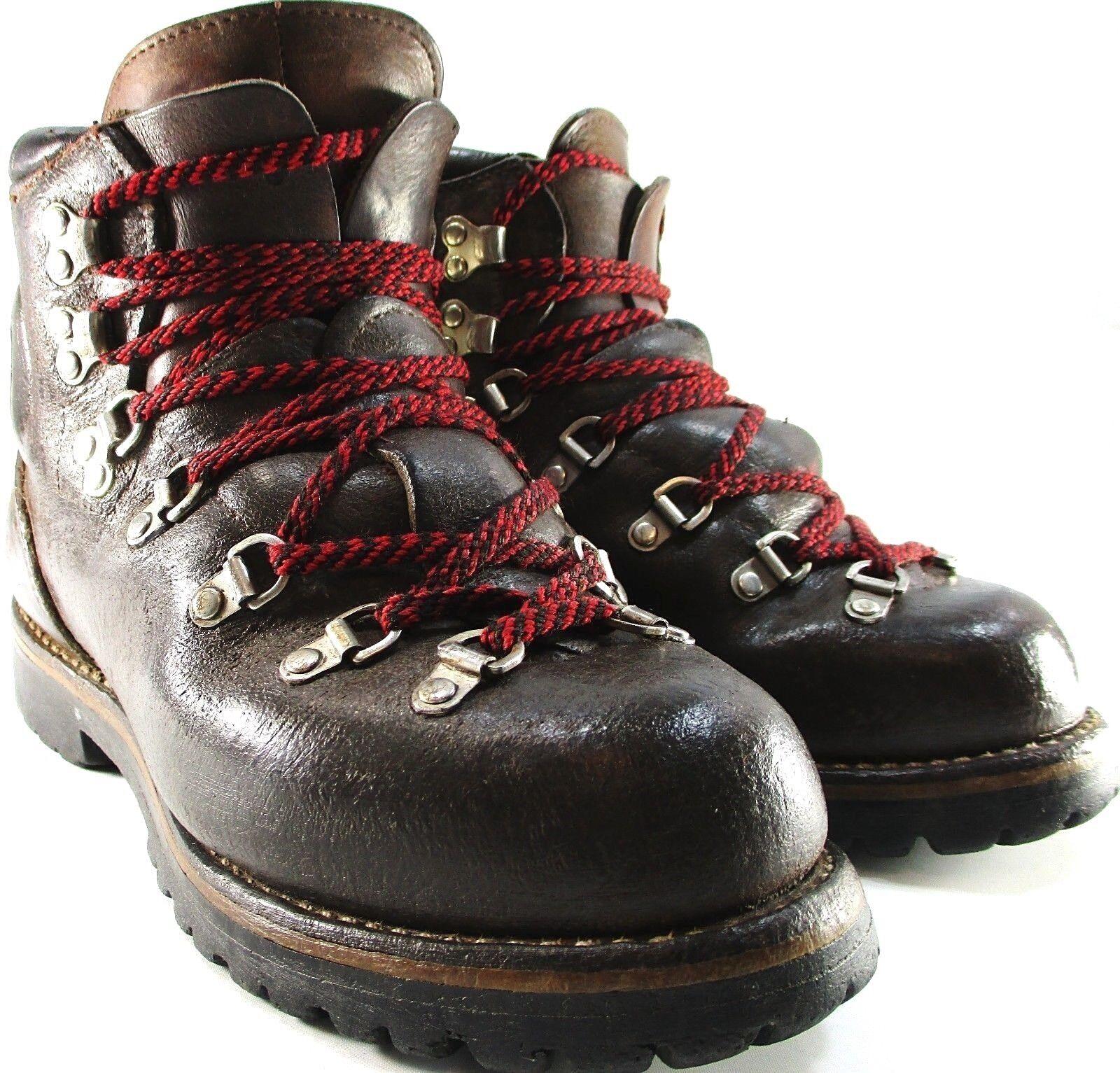 Vasque Vtg Men Hiking Climbing Stiefel Größe 7 C braun Leather Lined Vibram Soles