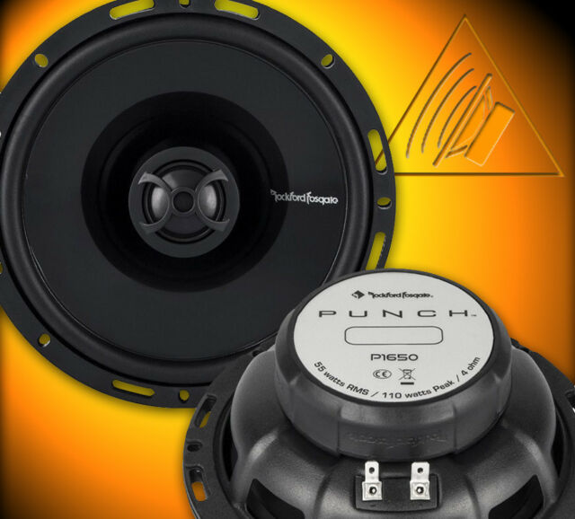 Rockford Fosgate PUNCH p1 p1650 16,5 cm 2 Voies Coaxial Haut-parleurs Paire