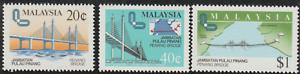X121-MALAYSIA-1985-PENANG-BRIDGE-SET-3V-FRESH-MH-CAT-RM-18
