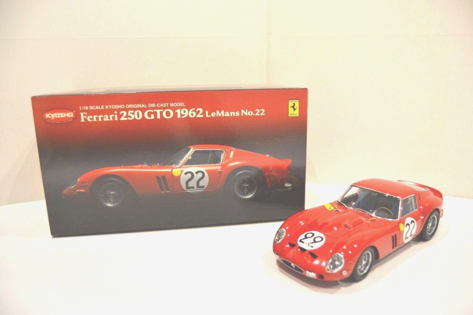 Kyosho 1/18. Ferrari 250 GTO 1963 -  Le Mans nº 22 -  Coupé 2P. Réf. 08432C.