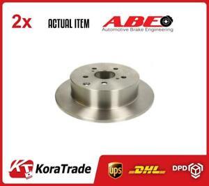 2 x REAR ABE BRAKE DISC SET C42063ABE