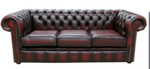 Hard Wearing Real Leather Sofa Couch