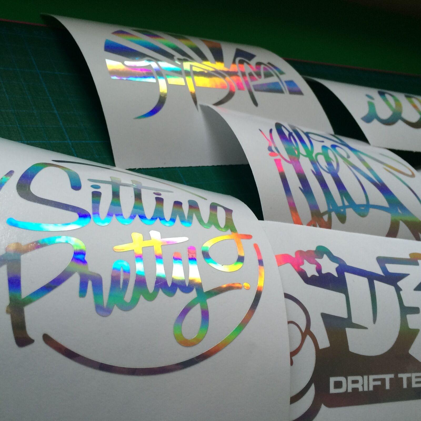 DOM KUN JDM JAP OIL SLICK CHROME DECAL STICKER CAR VAN WINDOW BUMPER DRIFT EURO