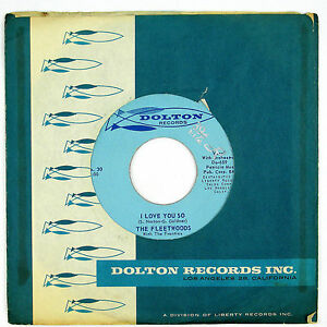FLEETWOODS-I-Love-You-So-Confidential-7IN-1960-DOO-WOP-NM
