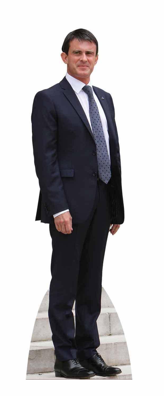 Manuel Valls Lebensechte Größe Pappfigur Aufsteller Aufstell Französisch | Niedriger Preis und gute Qualität  | Qualifizierte Herstellung