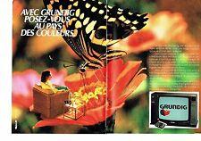 Publicité Advertising 057  1984  Grundig  ( 2pages)  téléviseur Monolith