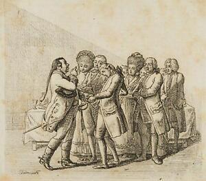 Chodowiecki (1726-1801). fidanzamento processione; pressione grafico
