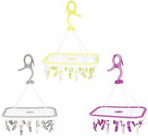 Suspendu-Vetements-Rack-18-Pegs-Multi-Purpose-Utilisation-Poids-Leger-amp-Fort