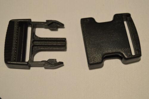 20 mm//25mm//40mm//50mm Buckle Clip /& CURSORI-Plastica//Nero